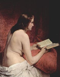 Francesco Hayez - Odalisque with Book
