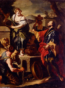 Francesco Solimena - Rebecca and Eliezer at the Well