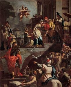 Francesco Solimena - Rebecca Leaving Her Father's House