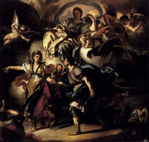 Francesco Solimena - The Royal Hunt of Dido and Aeneas