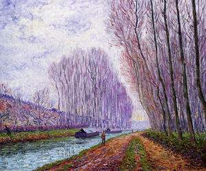 Francis Picabia - Barges on the Loing, Morning Effect