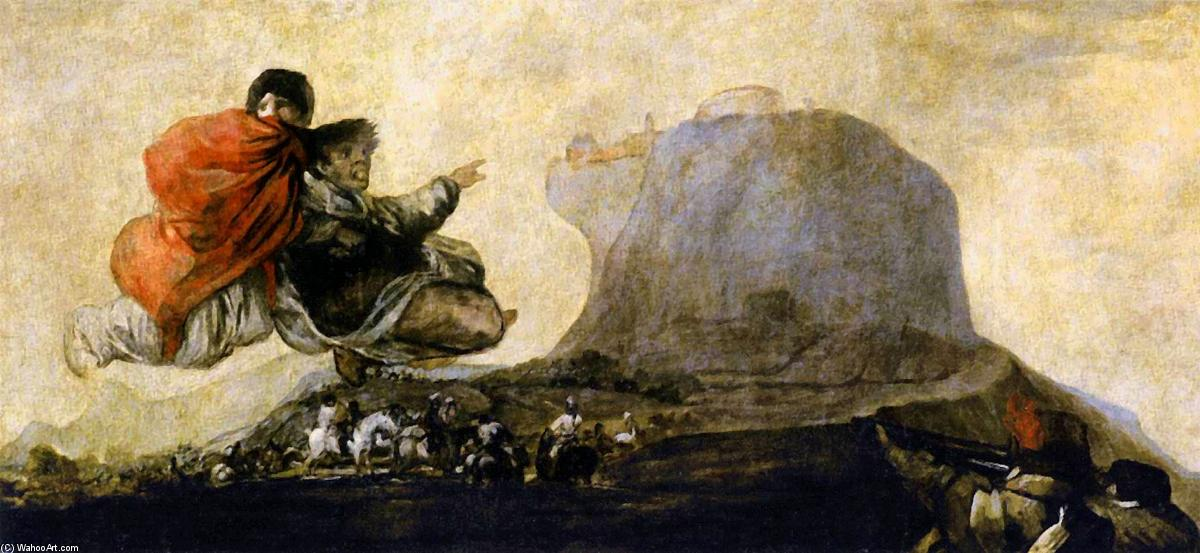 Asmodea, Oil On Canvas by Francisco De Goya (1746-1828, Spain)