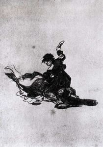 Francisco De Goya - Woman Hitting Another Woman with a Shoe