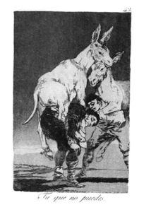 Francisco De Goya - They who Cannot