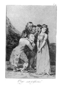 Francisco De Goya - What a sacrifice!