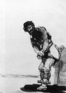 Francisco De Goya - Chained Prisoner