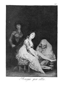 Francisco De Goya - She prays for her