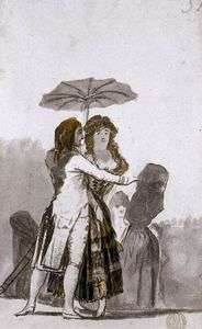 Francisco De Goya - Couple with Parasol on the Paseo