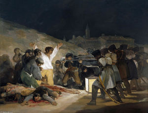 Francisco De Goya - The Third of May 1808 (Execution of the Defenders of Madrid) - (Buy fine Art Reproductions)