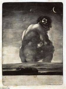 Order Oil Painting : Colossus by Francisco De Goya (1746-1828, Spain) | WahooArt.com
