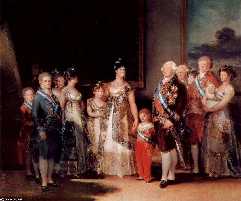 Charles IV of Spain and his family, Oil On Canvas by Francisco De Goya (1746-1828, Spain)