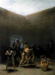 Francisco De Goya - The Yard of a Madhouse