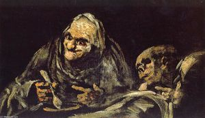 Francisco De Goya - Old eating soup