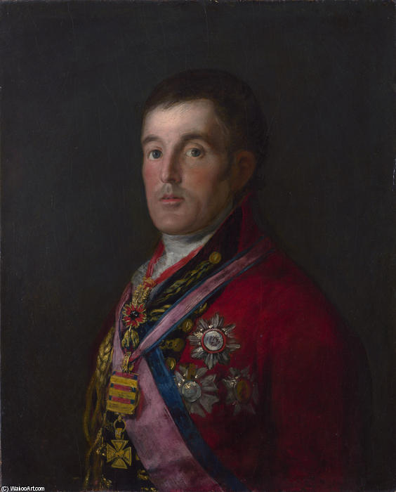 The Duke of Wellington, 1814 by Francisco De Goya (1746-1828, Spain)