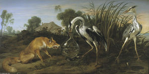 Frans Snyders - Sable of the Fox and the Heron