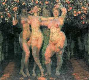 Frantisek Kupka - Autumn Sun, Three Goddesses