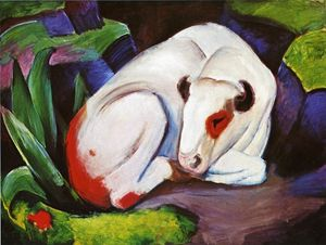 Franz Marc - The Steer (The Bull)