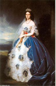 Franz Xaver Winterhalter - Portrait of the Queen Olga of Württemberg