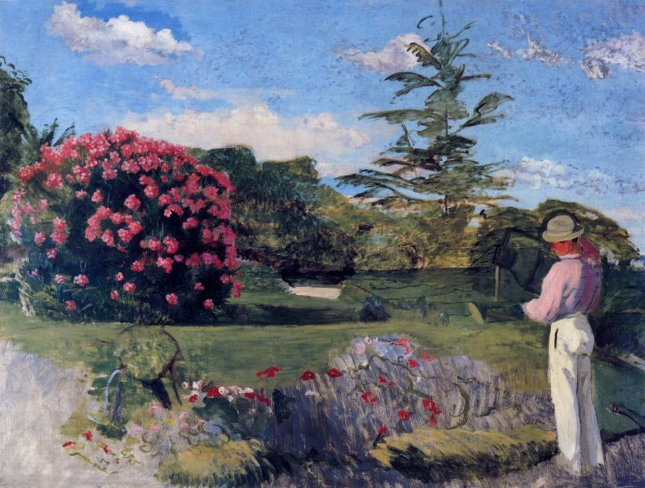 The Little Gardener, Oil On Canvas by Jean Frederic Bazille (1841-1870, France)