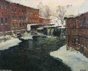 Frits Thaulow - Mill Scene