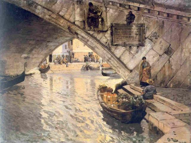 Rialto, 1895 by Frits Thaulow (1847-1906, Norway) | Museum Quality Reproductions | WahooArt.com