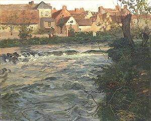 Frits Thaulow - Landscape and River