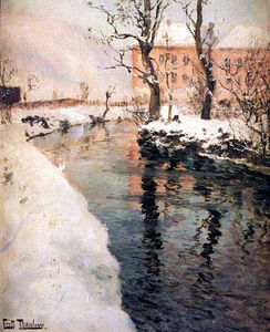 Frits Thaulow - A River in the Winter