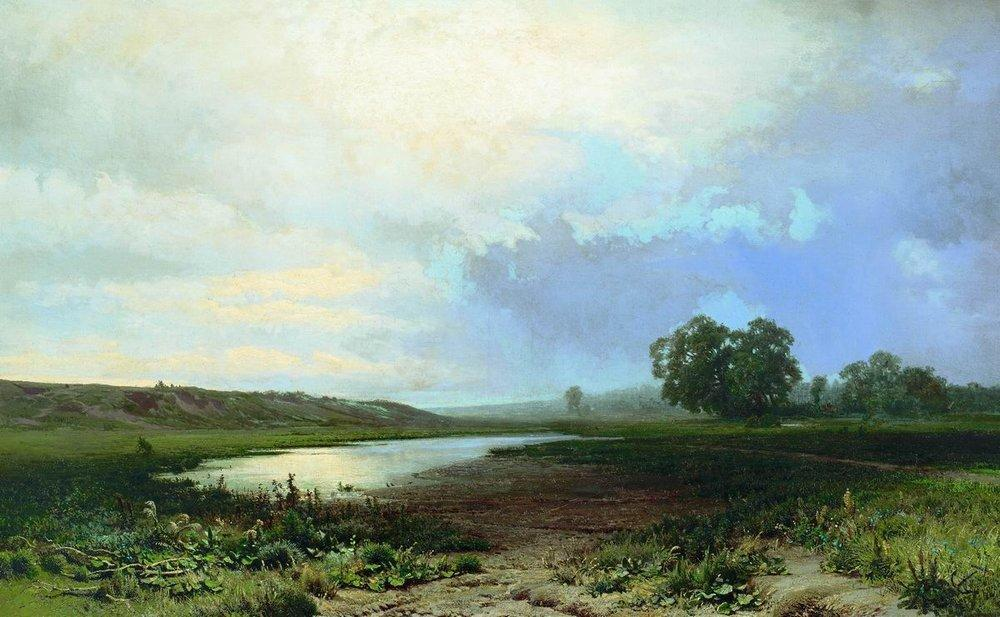 Wet Meadow, 1872 by Fyodor Alexandrovich Vasilyev (1850-1873, Russia) | Museum Quality Reproductions | WahooArt.com