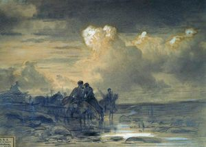 Fyodor Alexandrovich Vasilyev - Horses at the Watering