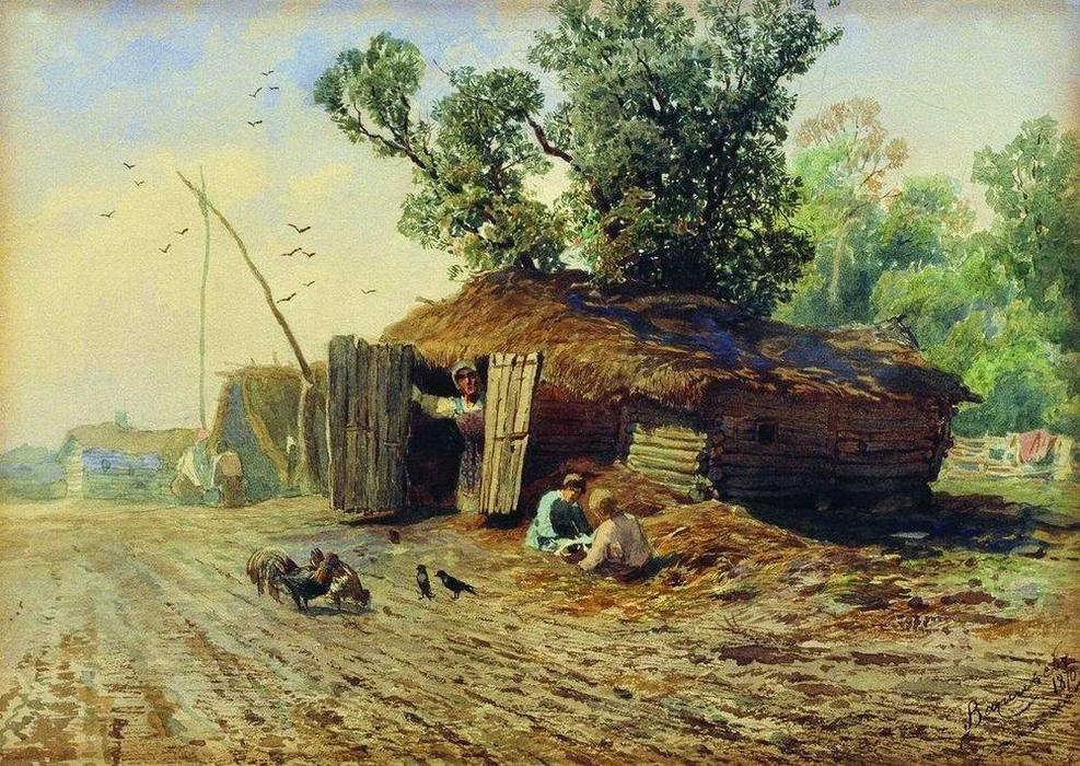 Dugout, 1870 by Fyodor Alexandrovich Vasilyev (1850-1873, Russia) | Art Reproduction | WahooArt.com