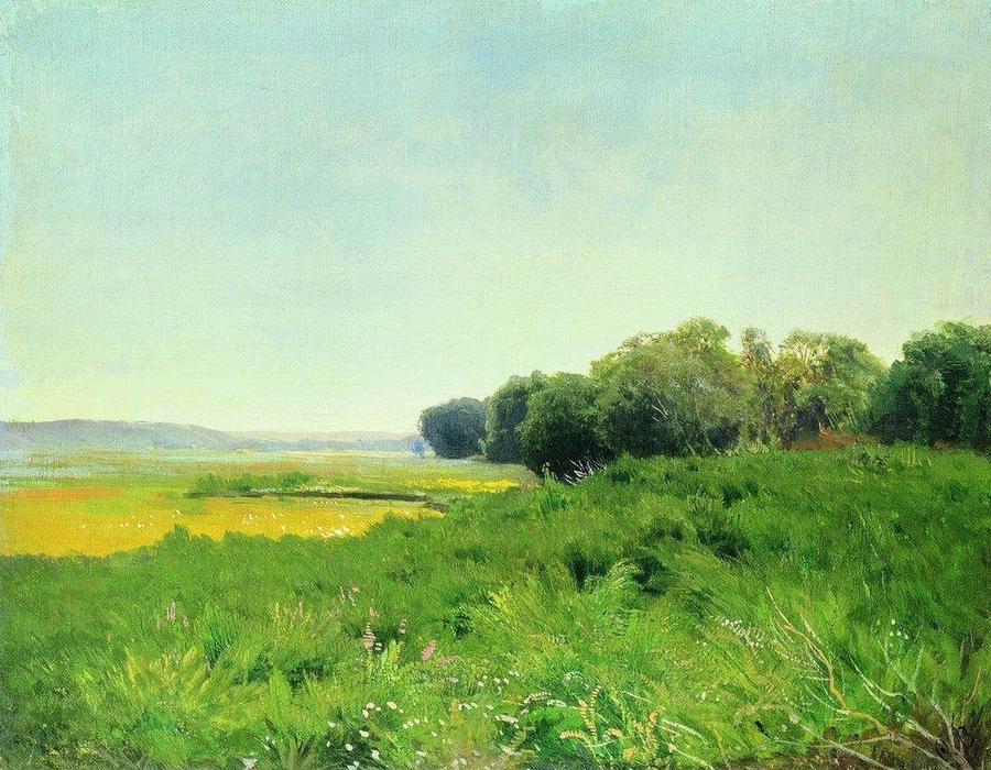 Wet Meadow 1. Study, 1872 by Fyodor Alexandrovich Vasilyev (1850-1873, Russia) | Art Reproduction | WahooArt.com