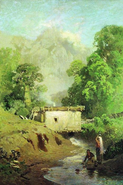 Crimean Landscape, 1873 by Fyodor Alexandrovich Vasilyev (1850-1873, Russia) | Oil Painting | WahooArt.com