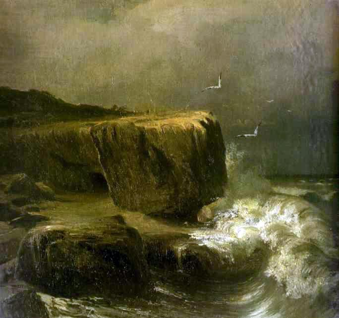 Tide near the Shore of the Crimea by Fyodor Alexandrovich Vasilyev (1850-1873, Russia) | Museum Quality Reproductions | WahooArt.com