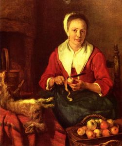 Gabriel Metsu - The Apple Peeler