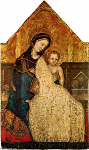 Order Paintings Reproductions | Madonna with Child Gentile da Fabriano, 1427 by Gentile Da Fabriano (1370-1427, Italy) | WahooArt.com