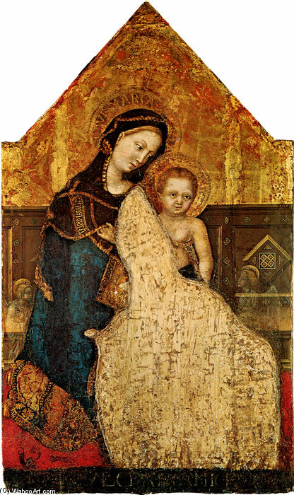 Madonna with Child Gentile da Fabriano, 1427 by Gentile Da Fabriano (1370-1427, Italy) | Paintings Reproductions Gentile Da Fabriano | WahooArt.com