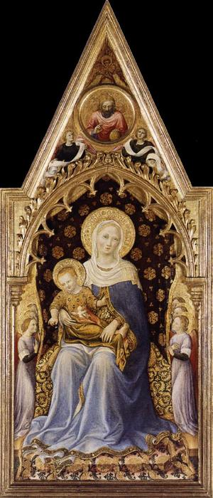 Quaratesi Altarpiece, Virgin and Child, 1425 by Gentile Da Fabriano (1370-1427, Italy) | Paintings Reproductions Gentile Da Fabriano | WahooArt.com