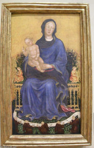 Gentile Da Fabriano - Enthroned Madonna with angels