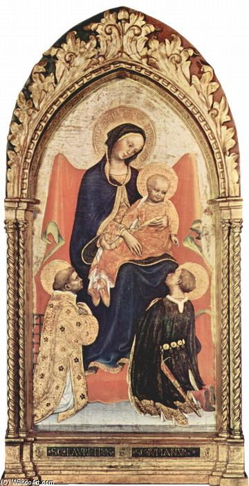 Madonna with St. Julian and St. Laurenzius, Tempera by Gentile Da Fabriano (1370-1427, Italy)