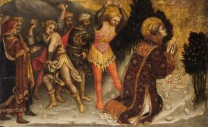 Order Painting Copy : Stoning of St. Stephen by Gentile Da Fabriano (1370-1427, Italy) | WahooArt.com