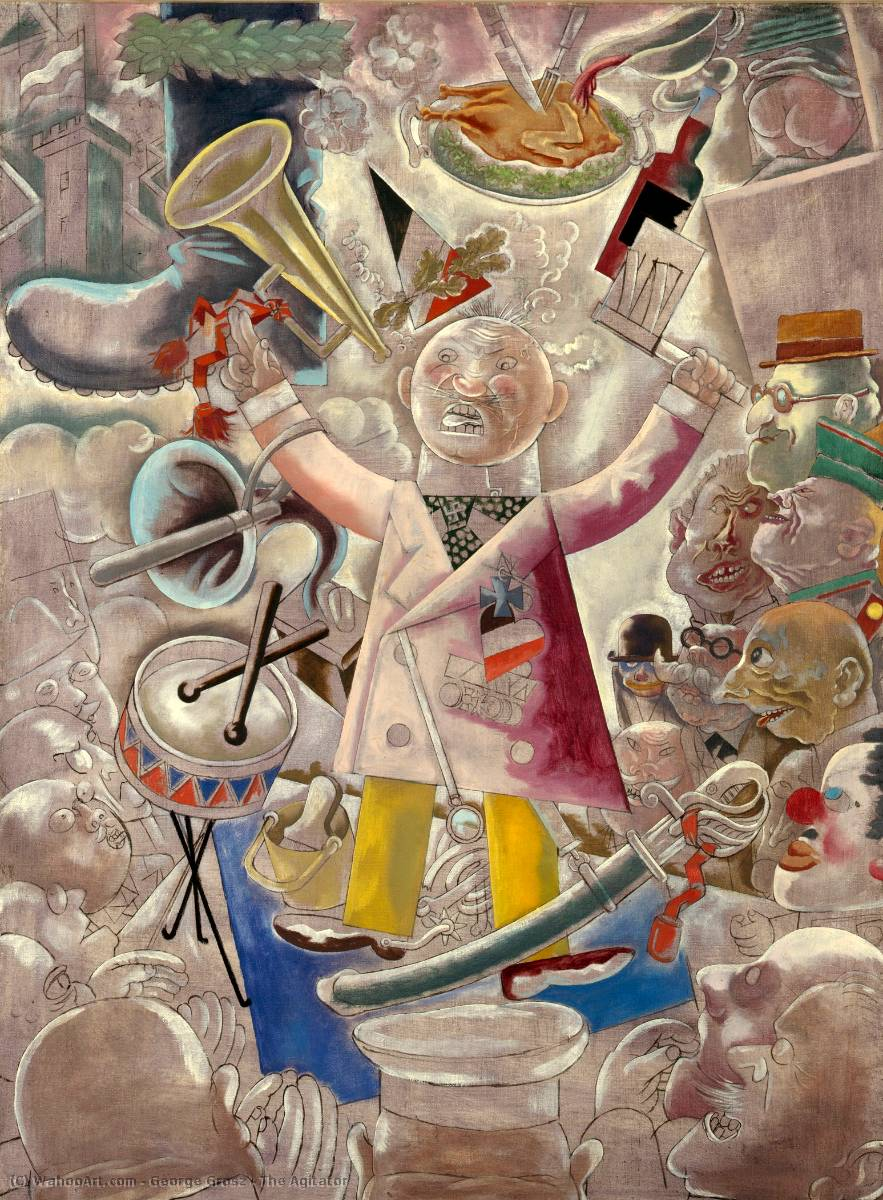 The Agitator, Oil On Canvas by George Grosz (1893-1959, Germany)