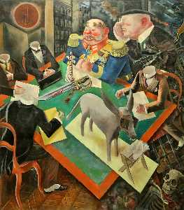 George Grosz - The Eclipse of the Sun - (oil painting reproductions)