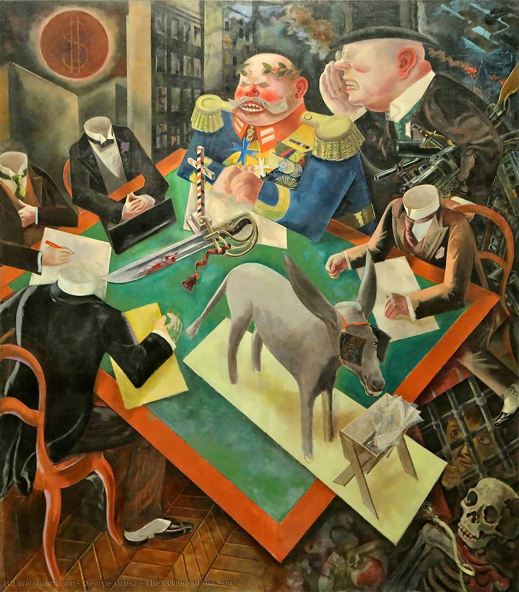 The Eclipse of the Sun, 1926 by George Grosz (1893-1959, Germany) | Museum Quality Reproductions | WahooArt.com