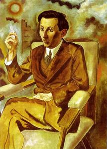 George Grosz - Portrait of the Writer Walter Mehring
