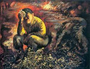 George Grosz - Cain or Hitler in Hell - (Famous paintings reproduction)