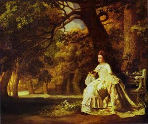 George Stubbs - Lady Reading in a Wooded Park