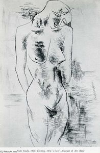 Georges Braque - Nude study