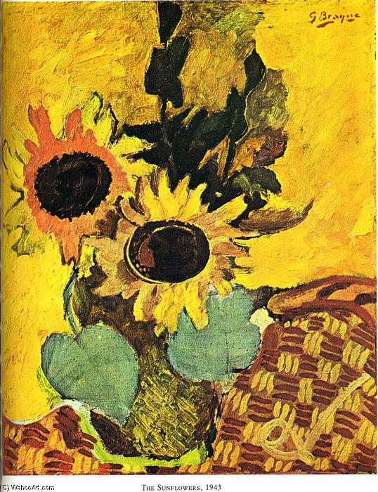 The sunflowers, Oil On Canvas by Georges Braque (1882-1963, France)