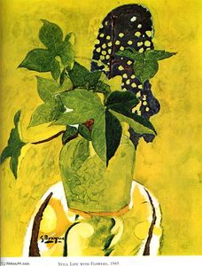 Georges Braque - Still life with flowers