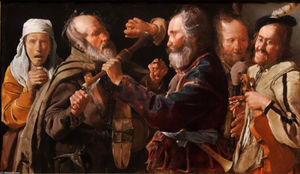 Georges De La Tour - The Beggars- Brawl